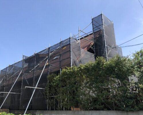 福岡市博多区板付 ログハウス塗装 N様邸